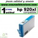HP 920 XL CYAN CARTUCHO COMPATIBLE/RECICLADO