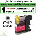 CARTUCHO TINTA MAGENTA BROTHER LC121 LC123 COMPATIBLE (NUEVO CHIP)