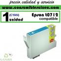 CARTUCHO DE TINTA EPSON COMPATIBLE T0712 CYAN