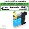 CARTUCHO CYAN BROTHER LC-125 COMPATIBLE(Calidad,Precio y Servicio)
