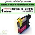CARTUCHO MAGENTA BROTHER LC-125 COMPATIBLE(Calidad,Precio y Servicio)
