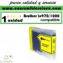 BROTHER LC970 LC1000 AMARILLO CARTUCHO DE TINTA COMPATIBLE(Calidad,Precio y Servicio)