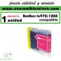 BROTHER LC970 LC1000 MAGENTA CARTUCHO DE TINTA COMPATIBLE(Calidad,Precio y Servicio)