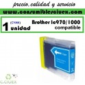 BROTHER LC970 LC1000 CYAN CARTUCHO DE TINTA COMPATIBLE(Calidad,Precio y Servicio)