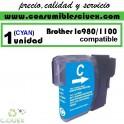 BROTHER LC980 CYAN CARTUCHO DE TINTA COMPATIBLE(Calidad,Precio y Servicio)
