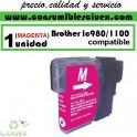 BROTHER LC980 MAGENTA CARTUCHO DE TINTA COMPATIBLE(Calidad,Precio y Servicio)