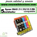 PACK 5 CARTUCHOS COMPATIBLES EPSON 26XL A ELEGIR COLOR