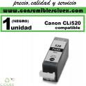 CARTUCHO COMPATIBLE CANON CLI-520 NEGRO ALTA CAPACIDAD(Calidad,Precio y Servicio)