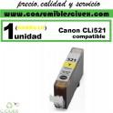 CARTUCHO COMPATIBLE CANON CLI-521 AMARILLO(Calidad,Precio y Servicio)