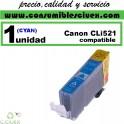 CARTUCHO COMPATIBLE CANON CLI-521 CYAN(Calidad,Precio y Servicio)