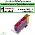 CARTUCHO COMPATIBLE CANON CLI-521 MAGENTA(Calidad,Precio y Servicio)