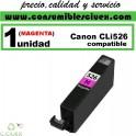 CARTUCHO COMPATIBLE CANON CLI-526 MAGENTA(Calidad,Precio y Servicio)