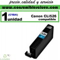 CARTUCHO COMPATIBLE CANON CLI-526 CYAN(Calidad,Precio y Servicio)