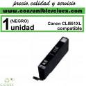CARTUCHO COMPATIBLE CANON CLI 551XL NEGRO(Calidad,Precio y Servicio)