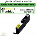 CARTUCHO COMPATIBLE CANON CLI 551XL AMARILLO(Calidad,Precio y Servicio)