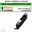 CARTUCHO COMPATIBLE CANON CLI 551XL MAGENTA(Calidad,Precio y Servicio)