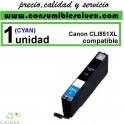 CARTUCHO COMPATIBLE CANON CLI 551XL CYAN(Calidad,Precio y Servicio)