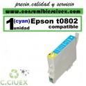 CARTUCHO COMPATIBLE EPSON T0802