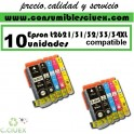 PACK 10 CARTUCHOS COMPATIBLES EPSON 26XL A ELEGIR COLOR