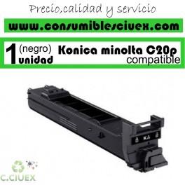 KONIKA MINOLTA BIZHUB C20P/C20 NEGRO CARTUCHO DE TONER GENERICO A0DK153/TN-318K