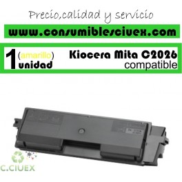 TONER AMARILLO KYOCERA TK 590 COMPATIBLE PARA IMPRESORAS KYOCERA FS-C2026MFP, FS-C2126MFP, FS-C2526MFP, FS-C5250DN