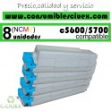 PACK 8 CARTUCHOS COMPATIBLES OKI C5600/C5700 A ELEGIR COLOR
