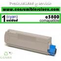 TONER CYAN OKI C5800/C5900 COMPATIBLE
