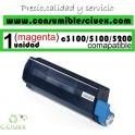TONER MAGENTA OKI C3100/C5100/C5200 COMPATIBLE