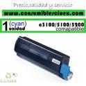 TONER CYAN OKI C3100/C5100/C5200 COMPATIBLE