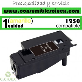 TONER AMARILLO COMPATIBLE DELL 1250C - 1350CNW - 1355N - 1355CNW DE ALTA CAPACIDAD (2000 PAG)