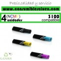 PACK 4 CARTUCHOS COMPATIBLES DELL 3100 A ELEGIR COLOR