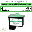 LEXMARK Nº 26 (12ML.) CARTUCHO COMPATIBLE