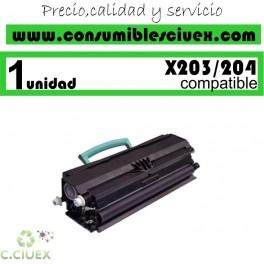 TONER LEXMARK X203/X204 COMPATIBLE