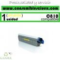 TONER AMARILLO OKI C810 COMPATIBLE PARA IMPRESORAS C810, C810DN, C830, C830DN, MC851, MC861