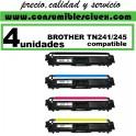 PACK 4 TONER COMPATIBLES BROTHER TN 241 / TN 245 A ELEGIR COLOR(Calidad,Precio y Servicio)