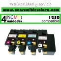 PACK 4 TONER DELL  1250C - 1350CNW - 1355N - 1355CNW DE ALTA CAPACIDAD