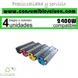 PACK 4 TONER NCMY MINOLTA PAGE PRO 2400W / 2500 COMPATIBLE