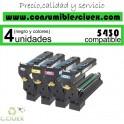 PACK 4 KONIKA MINOLTA MAGICOLOR 5430DL/5450 NCMY CARTUCHO DE TONER GENERICO 4539432