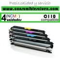 PACK 4 (ELIJA COLORES) CARTUCHOS COMPATIBLES OKI C110