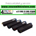 PACK 4 CARTUCHOS COMPATIBLES OKI C3100/C5100/C5200 A ELEGIR COLOR