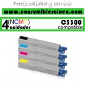 PACK 4 CARTUCHOS COMPATIBLES OKI C3300/3400/3450... A ELEGIR COLOR