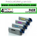 PACK 4 CARTUCHOS COMPATIBLES OKI C5650/5750 A ELEGIR COLOR