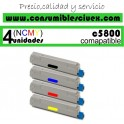 PACK 4 CARTUCHOS COMPATIBLES OKI C5800/5900 A ELEGIR COLOR