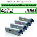 PACK 4  CARTUCHOS COMPATIBLES OKI C8600/8800 A ELEGIR COLOR