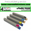 PACK 4 CARTUCHOS COMPATIBLES OKI C9600/9800 A ELEGIR COLOR