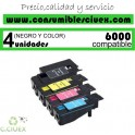 PACK 4 TONER NCMY XEROX PHASER 6000 COMPATIBLE