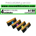 PACK 4 TONER NCMY XEROX PHASER 6121 COMPATIBLE