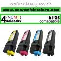 PACK 4 CARTUCHOS COMPATIBLES XEROX PHASER 6125 A ELEGIR COLOR