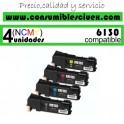 PACK 4 CARTUCHOS COMPATIBLES XEROX PHASER 6130 A ELEGIR COLOR
