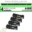 PACK 4 TONER NCMY XEROX PHASER 6500 COMPATIBLE
